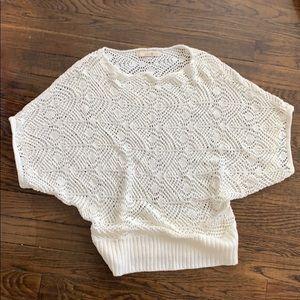 Forever21 Crochet Short Sleeve Sweater